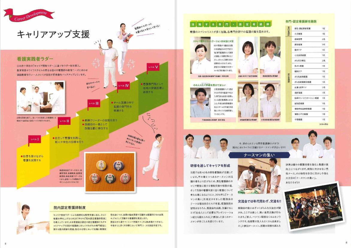 2018年7月作成「熊本赤十字病院」看護部パンフレット_サブ画像