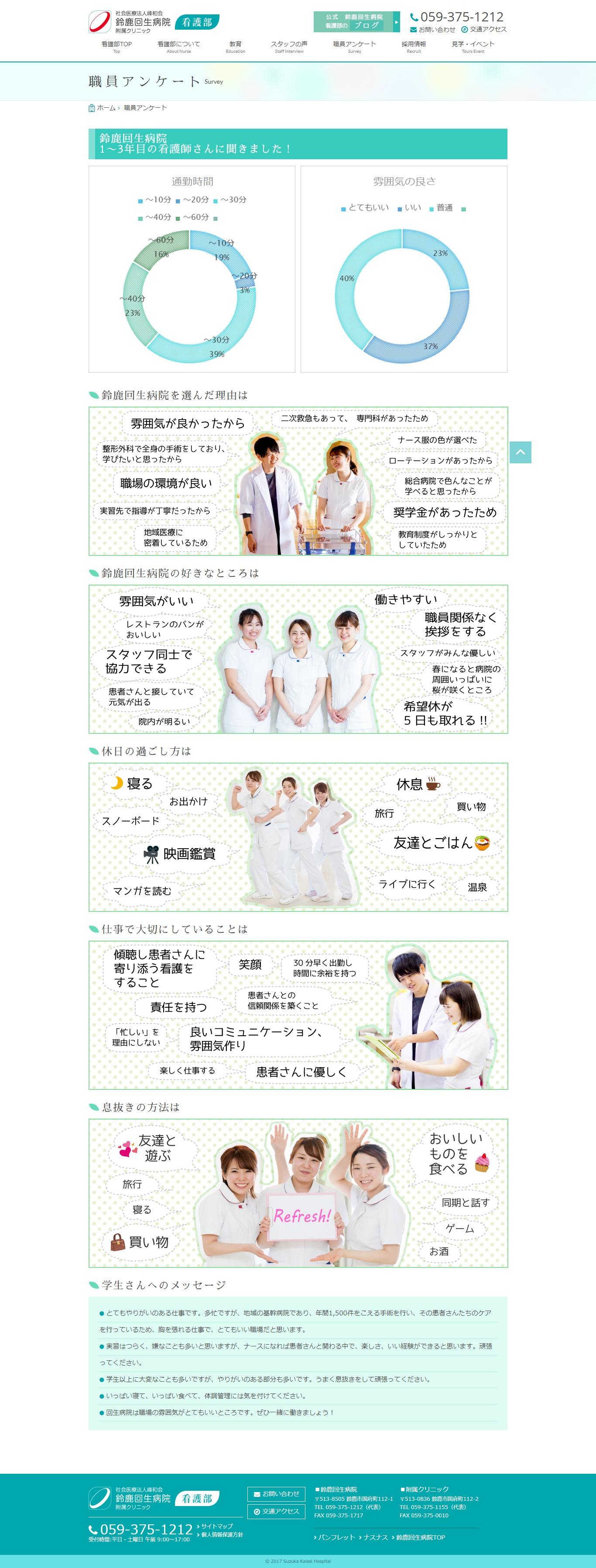 2017年8月作成「鈴鹿回生病院」看護部サイト_サブ画像